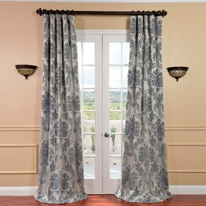 Image result for blue brocade curtains