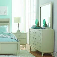 Hagerty 6 Drawer Dresser with Mirror by Brayden Studio