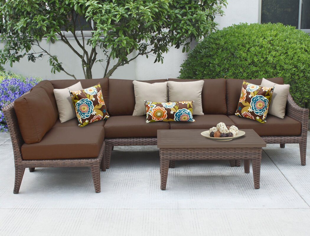 Tk Classics Manhattan 6 Piece Sectional Seating Group With
