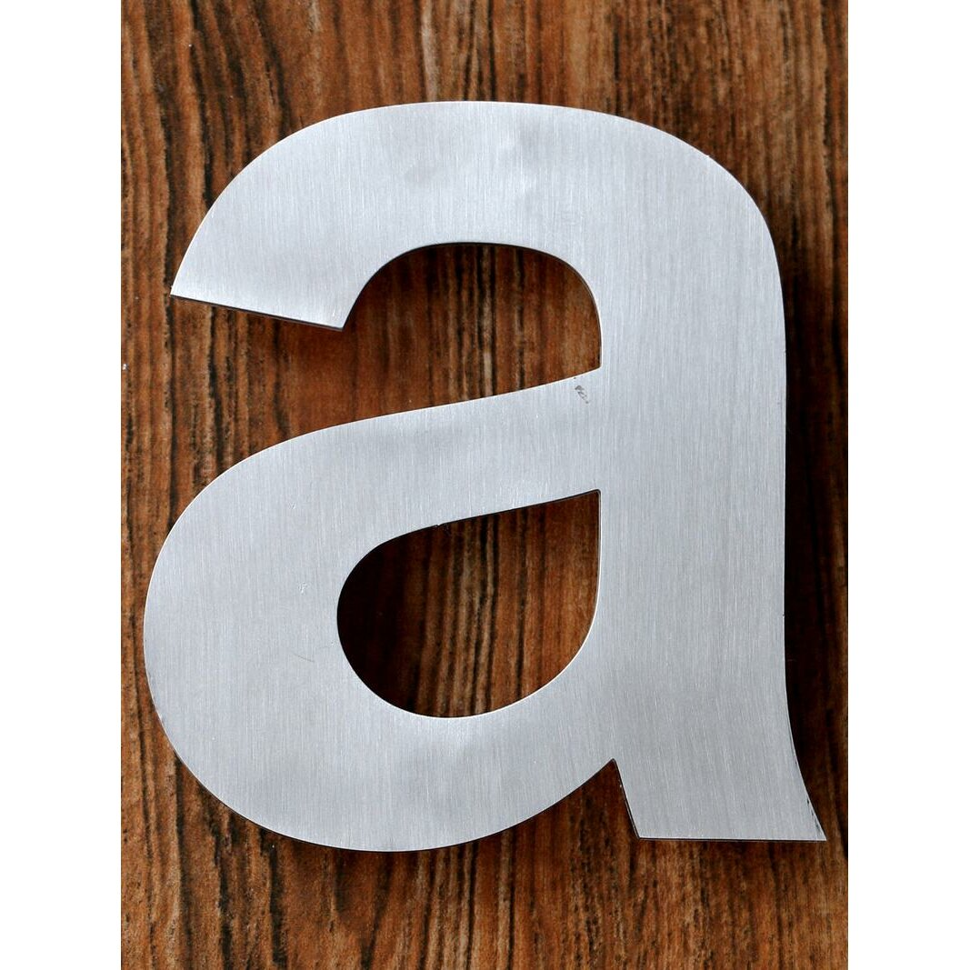 Qthomedecorllc modern floating mount house letter wayfairca for Floating house letters