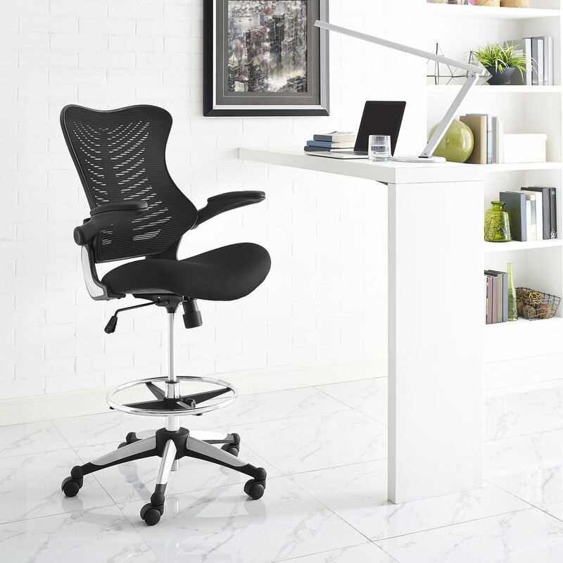 Modway Charge Mid Back Mesh Drafting Chair Reviews Wayfair