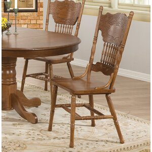 Heliotrope Solid Wood Dining Chair (Set of 2) by August Grove