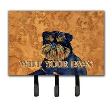 Brussels Griffon Wipe Your Paws Leash Holder and Key Hook by Caroline's Treasures