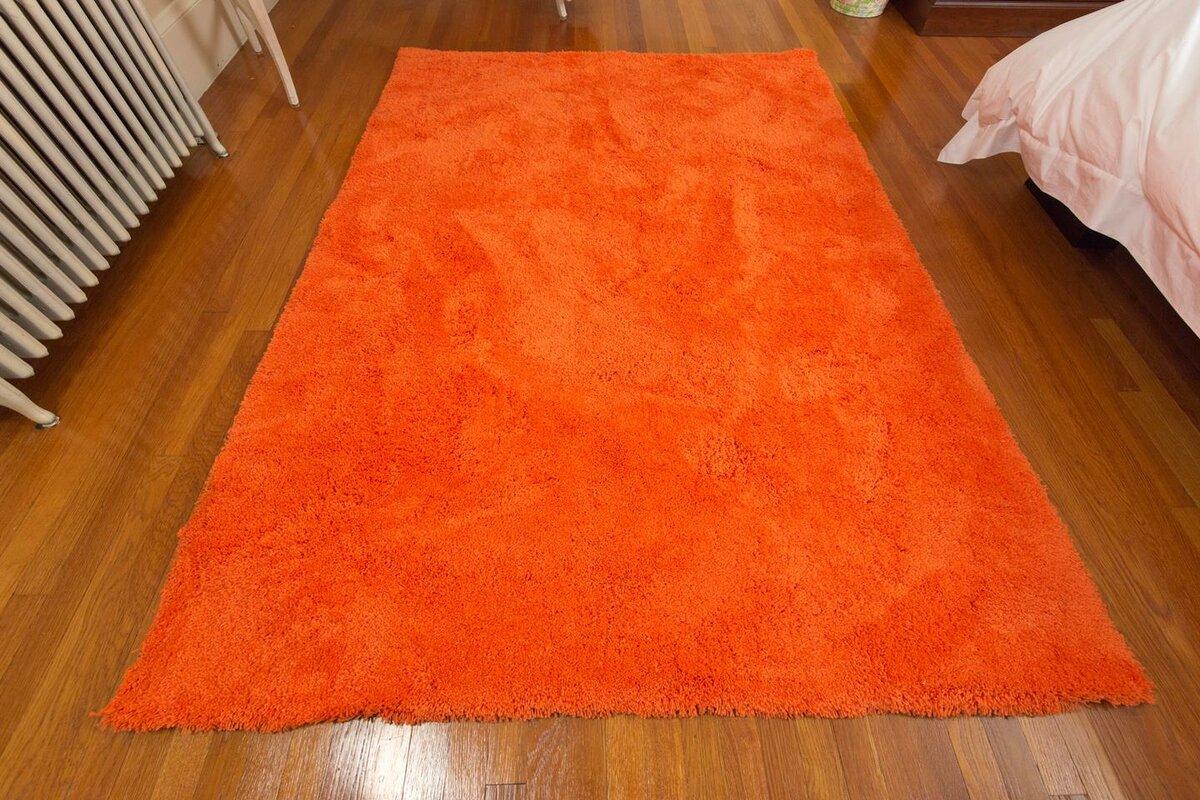 mats inc super soft orange area rug  reviews  wayfair - defaultname