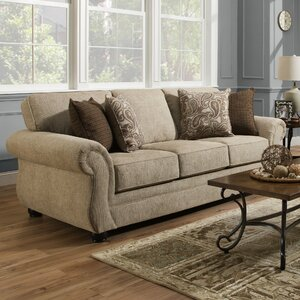 Simmons Vicki Parchment Sofa by Darby Home Co