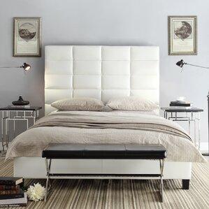kingstown upholstered panel bed - Upholstered King Bed Frame