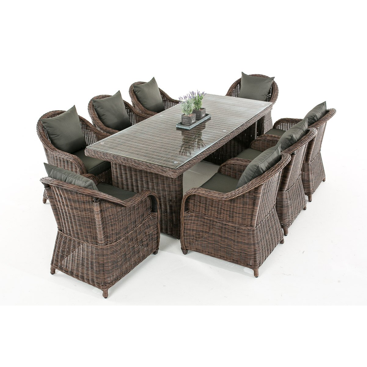 home haus 8 sitzer gartengarnitur kielder mit polster. Black Bedroom Furniture Sets. Home Design Ideas