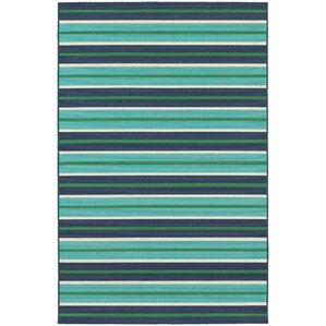 Cortlandt Blue/Green Indoor/Outdoor Area Rug
