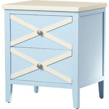 Chereen 2 Drawer End Table by Latitude Run
