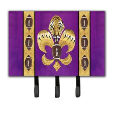 Tiger Football Fleur De Lis Leash and Key Holder by Caroline's Treasures