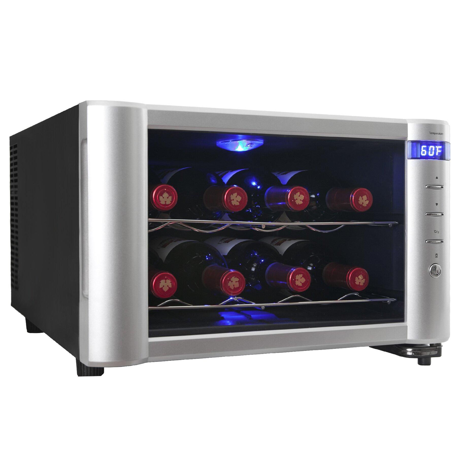 AKDY 8 Bottle Single Zone Freestanding Wine Cooler & Reviews   Wayfair