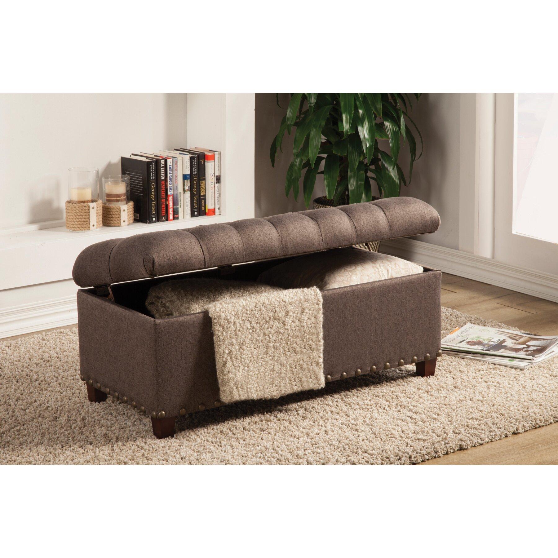 Alcott Hill Henderson Upholstered Storage Bedroom Bench Reviews Wayfair