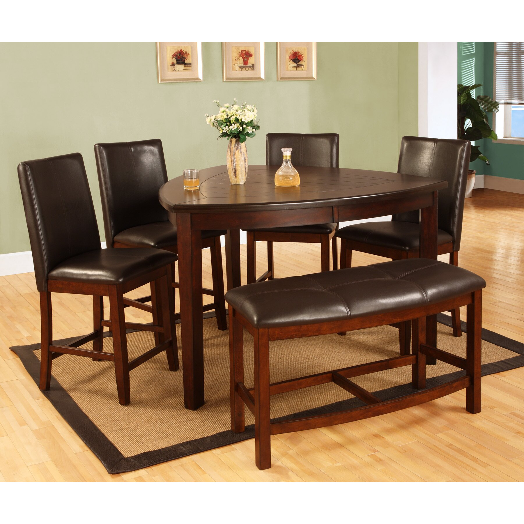 Best Quality Furniture  Piece Counter Height Dining Set  Reviews - Best quality dining room furniture