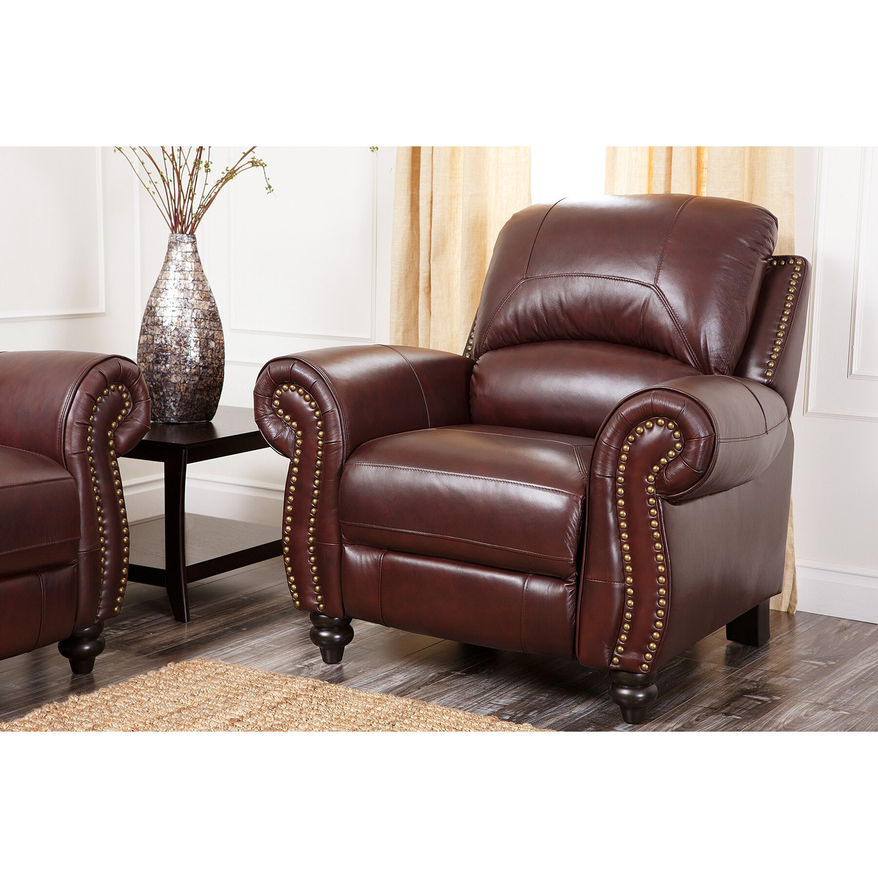 Club chair recliner - Kahle Leather Arm Chair Recliner