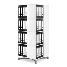 Cube Binder and File Carousel 61 H Four Shelf Shelving Unit by Moll