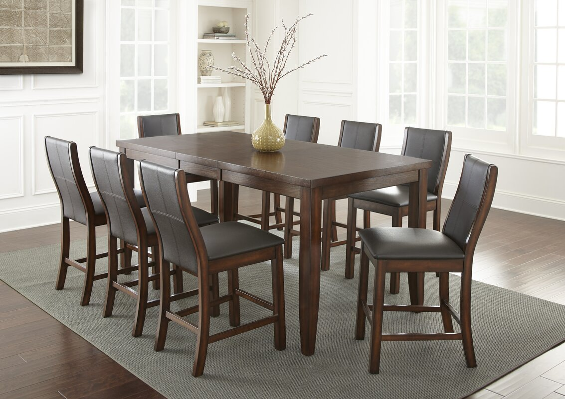 9 piece counter height dining room sets alcott hill abigale 9 counter height dining set 9159