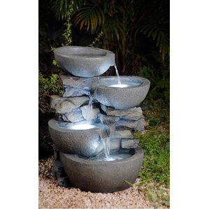 Resin Fiberglass Tiered Modern Bowls Fountain With LED LightFiberglass  Resin Indoor Outdoor Fountains You Ll Love WayfairModern Bathroom Fountain  Valley ...