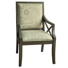 Driftwood French Script X-Armchair by Crestview Collection