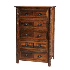 Premium Barnwood 5 Drawer Chest by Fireside Lodge