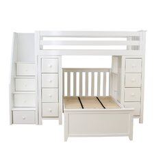 All-in-One Twin Standard Bed with Staircase by Jackpot!