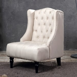 Tufted Wingback Chair by Belleze