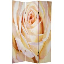 70.88 x 47 Double Sided Roses 3 Panel Room Divider by Oriental Furniture