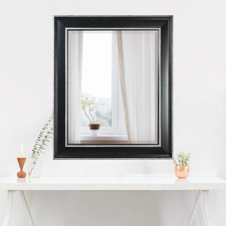 Winston porter cresson rectangle framed wall bathroom - Frames for bathroom vanity mirrors ...