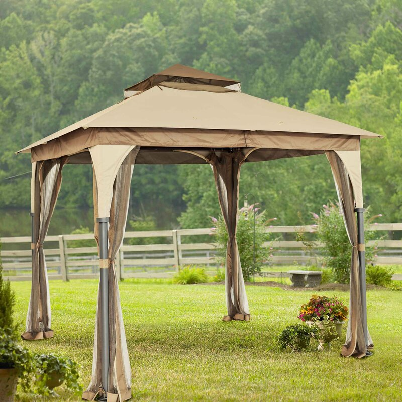 Steel Portable Gazebo : Sunjoy manilla ft w d metal portable gazebo