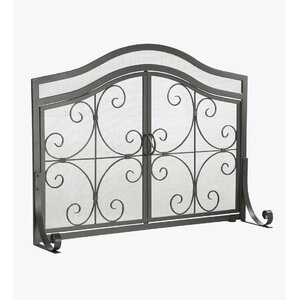 Small Single Panel Fireplace Screen by Plow & Hearth