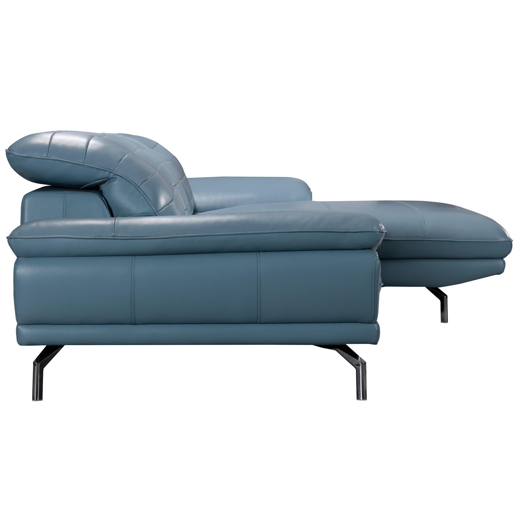 Wade logan alsatia leather sectional sofa for Wayfair sectional sofa