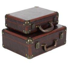 Braylene Wood 2 Piece Trunk Set by World Menagerie