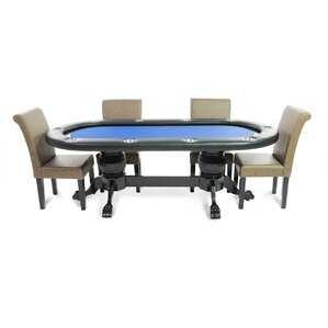 Elite 8 Piece Poker Dining Table Set With Lounge Chairs