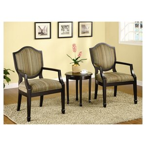 Underhill 3 Piece Cotton Armchair and Side Table Set by Darby Home Co