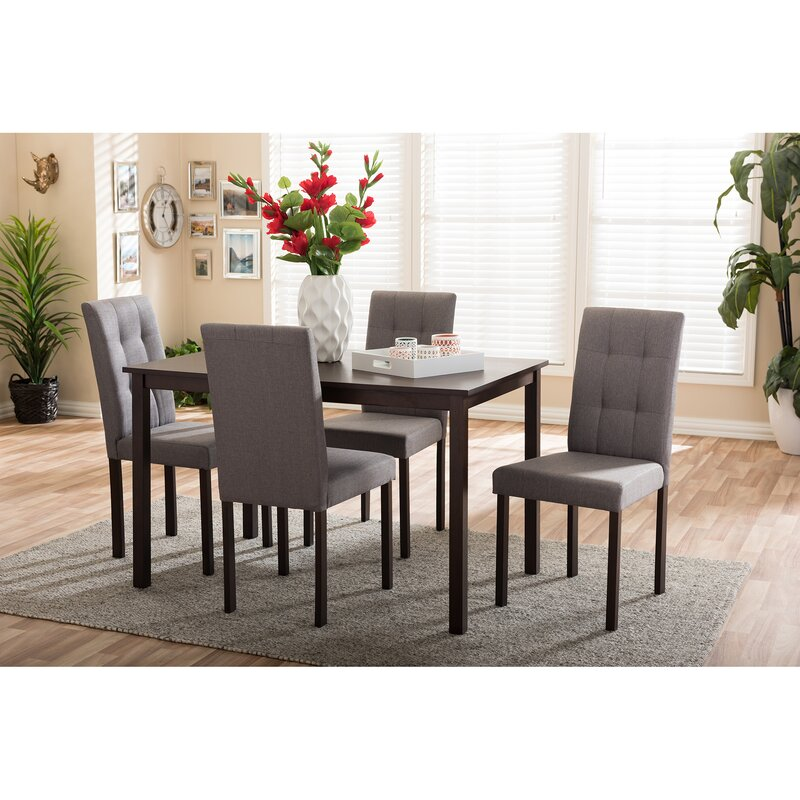 wholesale interiors baxton studio 5 piece dining set & reviews