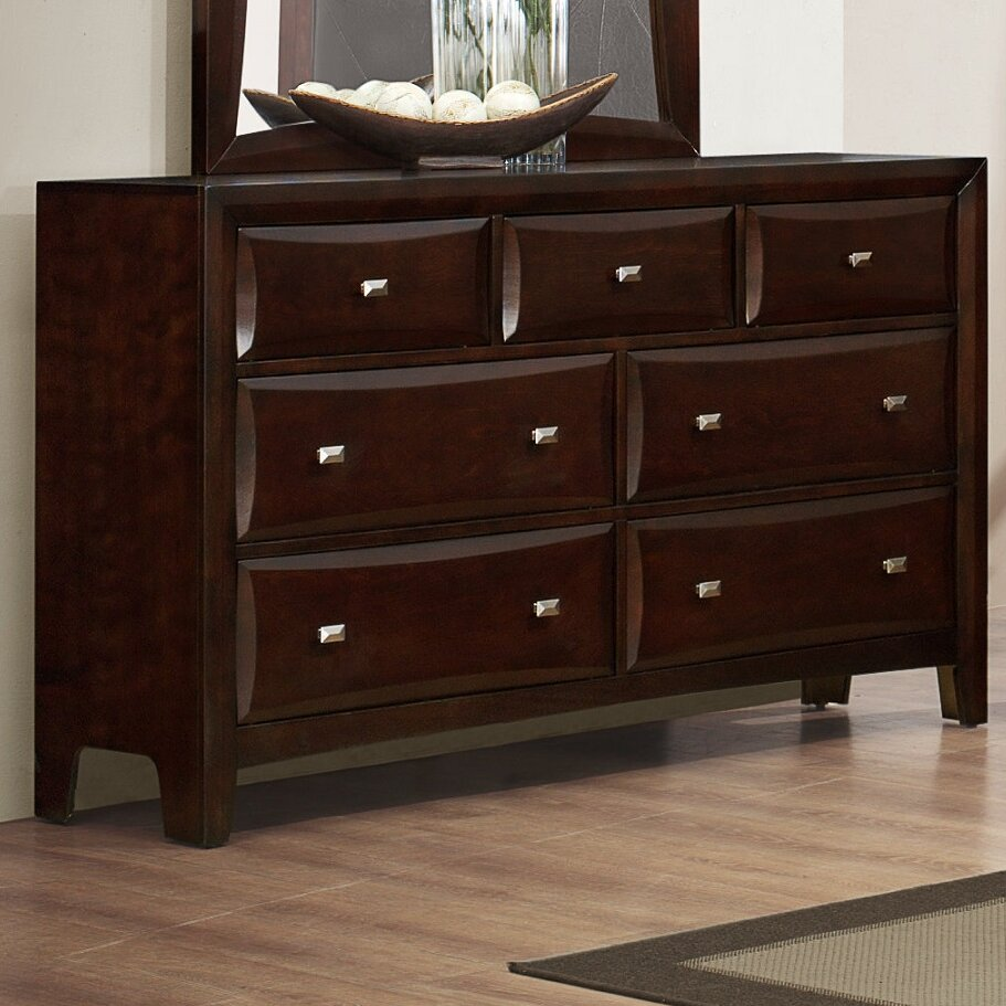 Roundhill furniture mateo 7 drawer standard dresser for Furniture 7 reviews