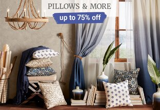 Up to 75% off Pillows & More
