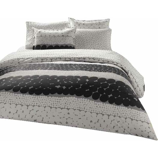 Jurmo Dark Shadow 3 Piece Reversible Duvet Cover Set