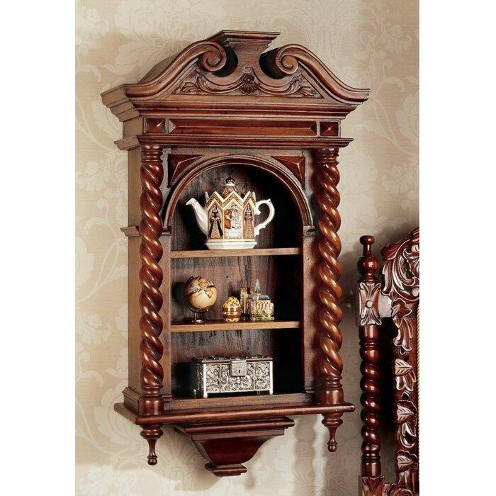 Charles II Wall Mounted Curio Cabinet