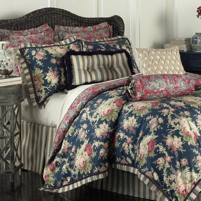 waverly sanctuary rose 4 piece reversible bedding set u0026 reviews wayfair - Waverly Bedding
