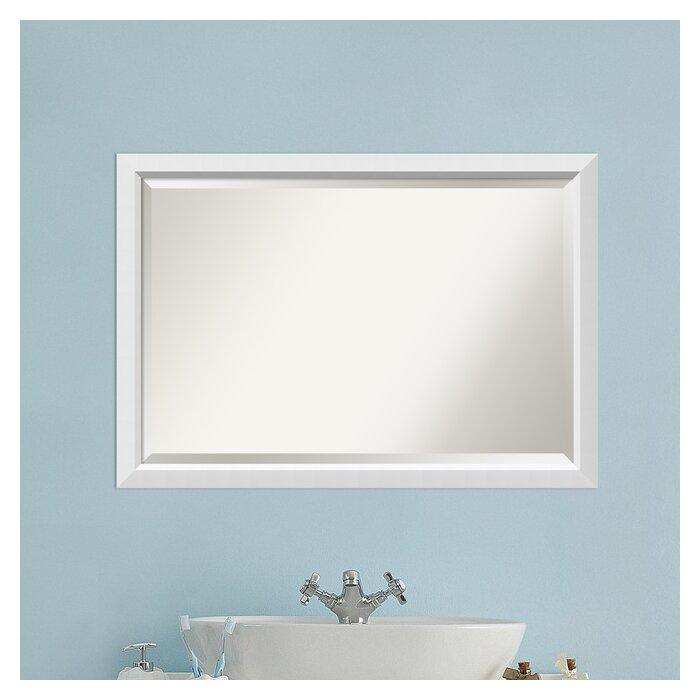 Zipcode Design Susanne Rectangle White Bathroom Mirror U0026 Reviews | Wayfair Part 53