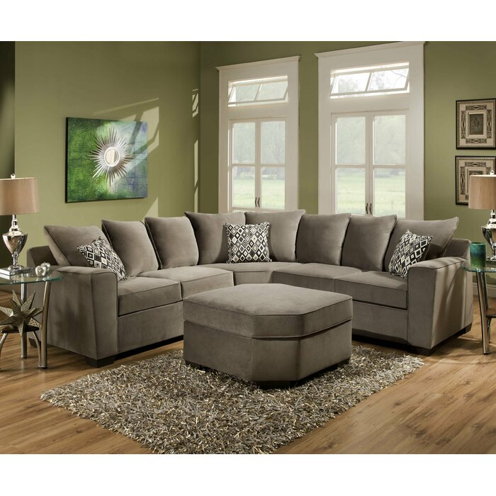 - Simmons Upholstery Roxanne Sectional & Reviews Wayfair
