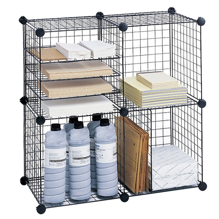 Safco Products Wire Cube Shelving System 5
