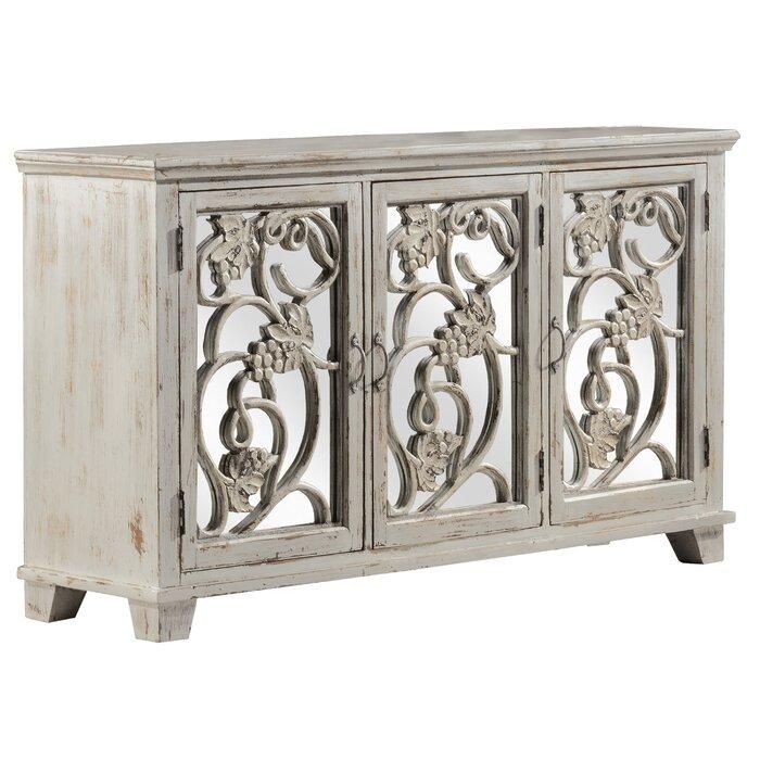 Fleur De Lis Living DeKalb Decorative Mirrored Console Table | Wayfair
