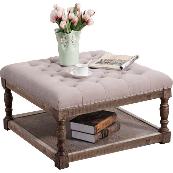Tufted Shelved Ottoman, Best Ottoman Coffee Table Ideas