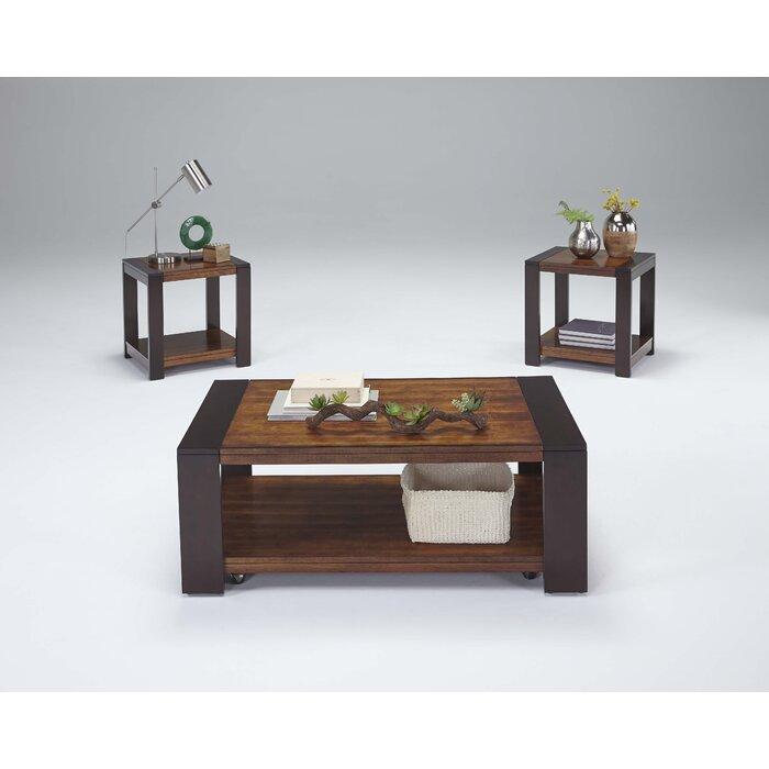 brayden studio hayley 3 piece coffee table set & reviews   wayfair
