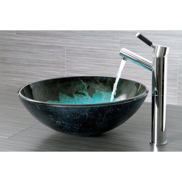 wayfair bathroom sinks. Kingston Brass Fauceture Glass Circular Vessel Bathroom Sink  Reviews Wayfair