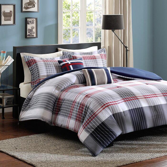 red bedroom set.  Viv Rae Robin Comforter Set Reviews Wayfair