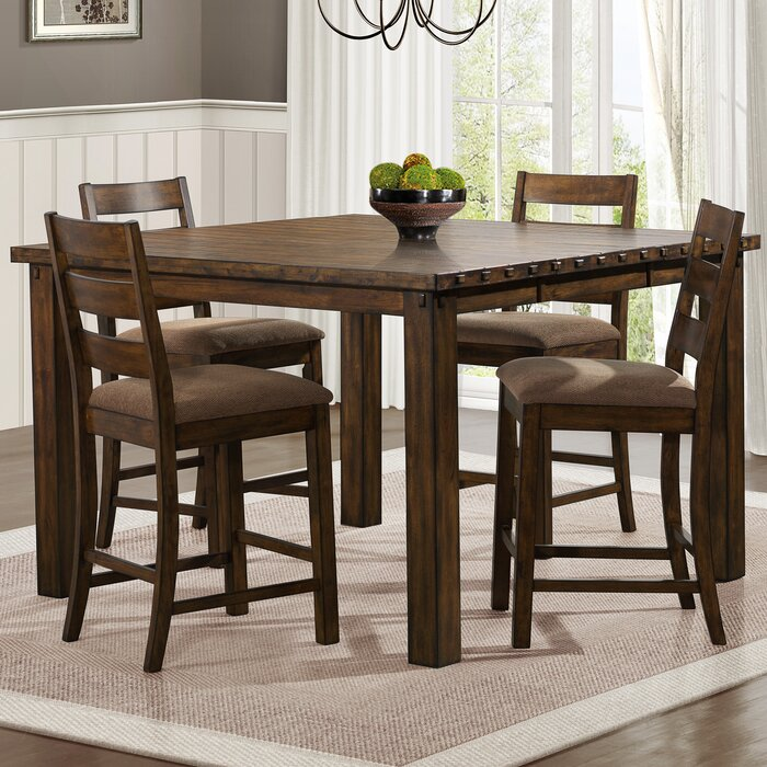 Extending Dining Room Table woodhaven hill ronan counter height extendable dining table