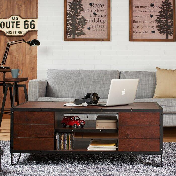 hokku designs edela coffee table & reviews | wayfair