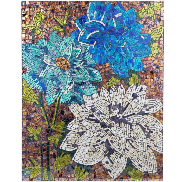 Mosaic Wall Decor river of goods dahlias mosaic wall décor & reviews   wayfair